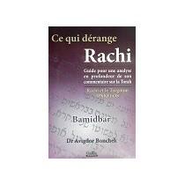 Ce qui dérange Rachi - Bamidbar - Dr Avigdor Bonchek Gallia - 1