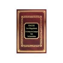 Rachi- Les Meguiloth-cantique des cantiques, Ruth, Lamentation Gallia - 1
